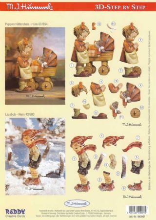 Hummel Children 3d Decoupage Sheet by Reddy